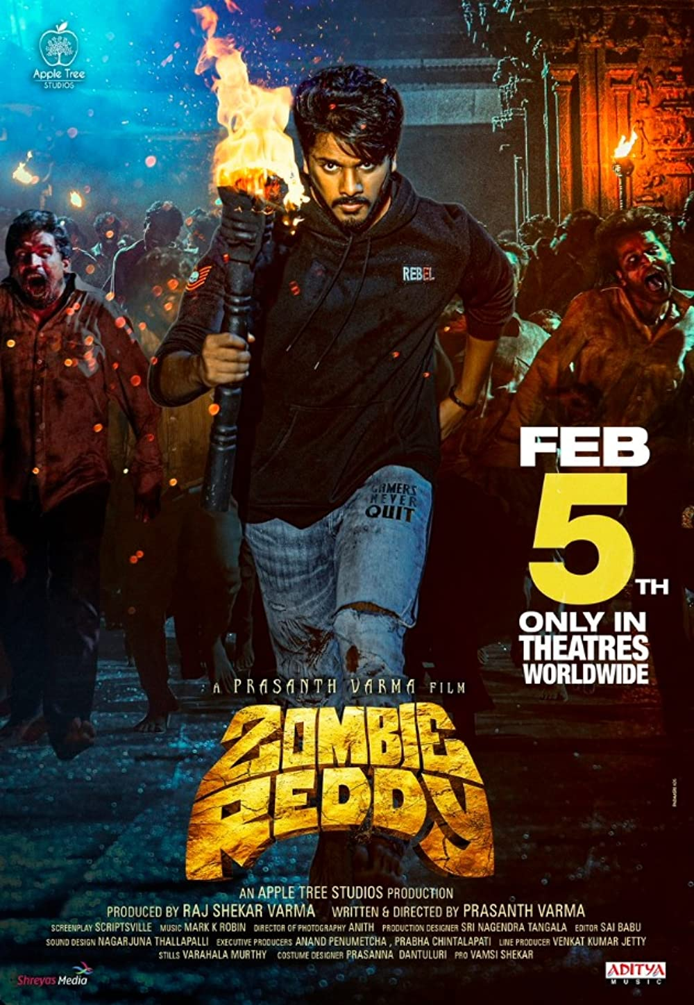 Zombie Reddy 2021 Telugu 1080p HDRip ESub 2.36GB Download