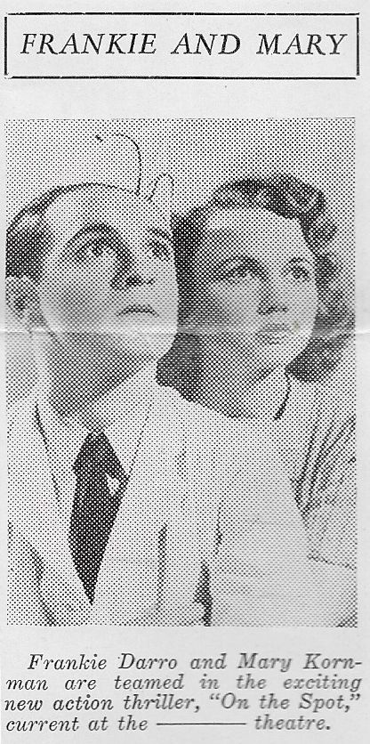 Frankie Darro and Mary Kornman in On the Spot (1940)