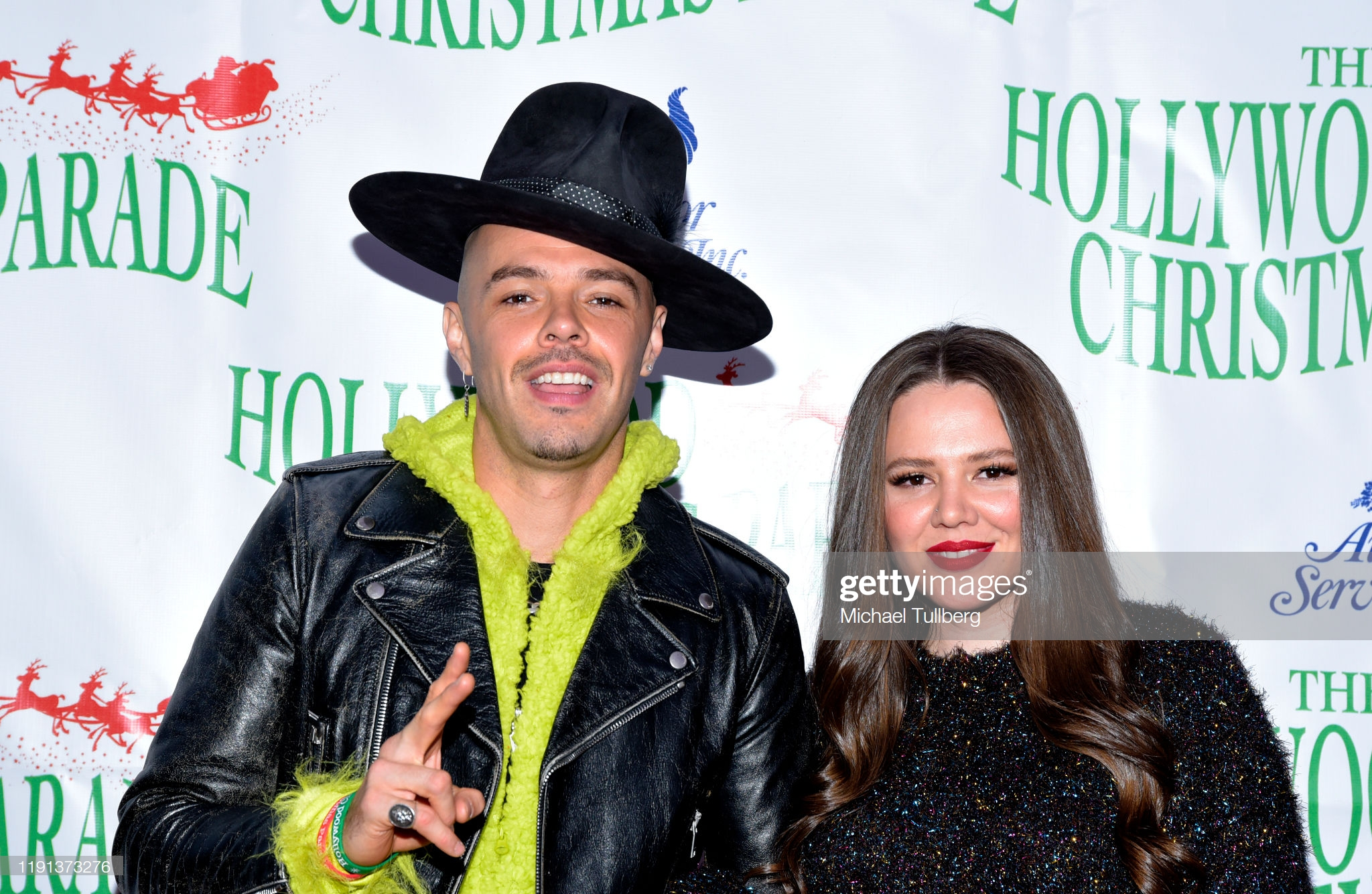 Joy Huerta and Jesse Huerta at an event for 88th Annual Hollywood Christmas Parade (2019)