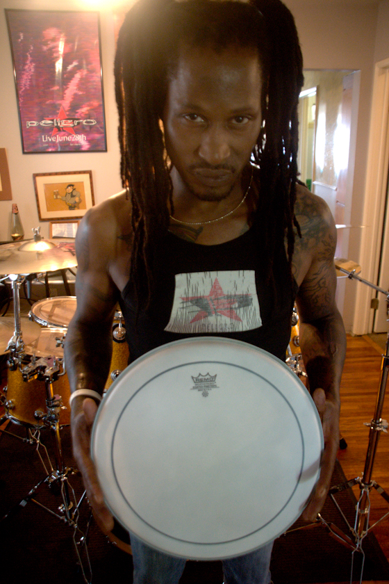 at the crib with my drumz