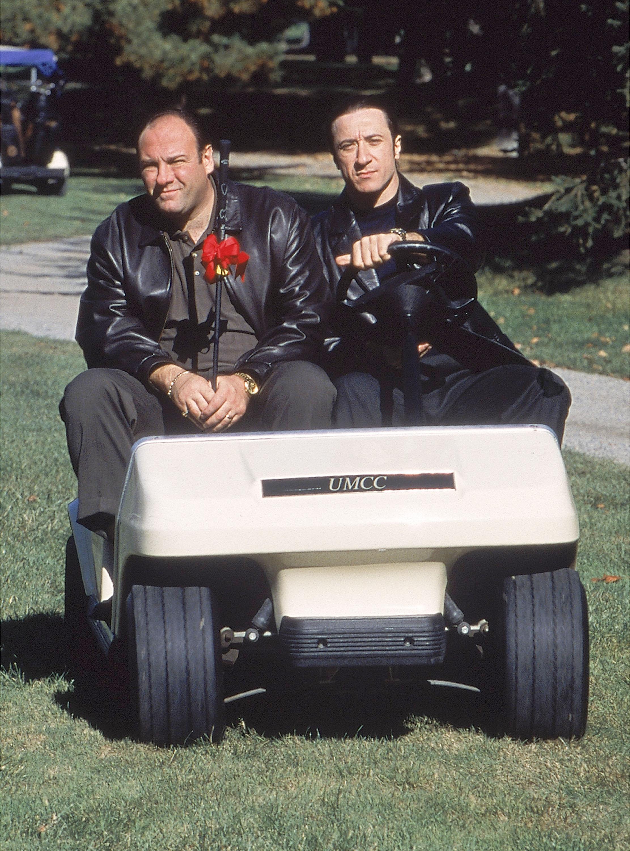 James Gandolfini and Federico Castelluccio in The Sopranos (1999)