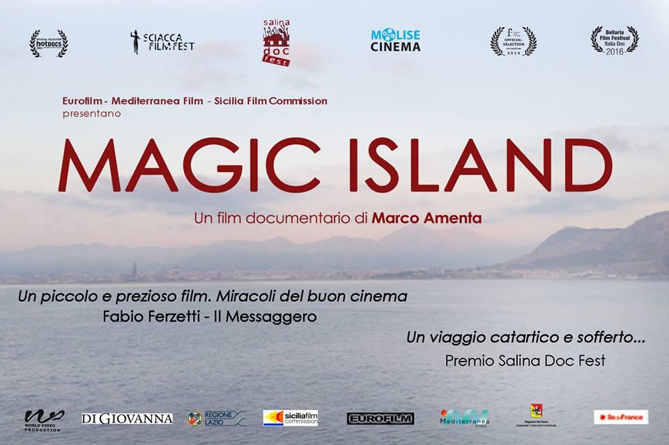 Marco Amenta, Simonetta Amenta, Roberto Scarpetti, and Andrea Facchini in Magic Island (2015)