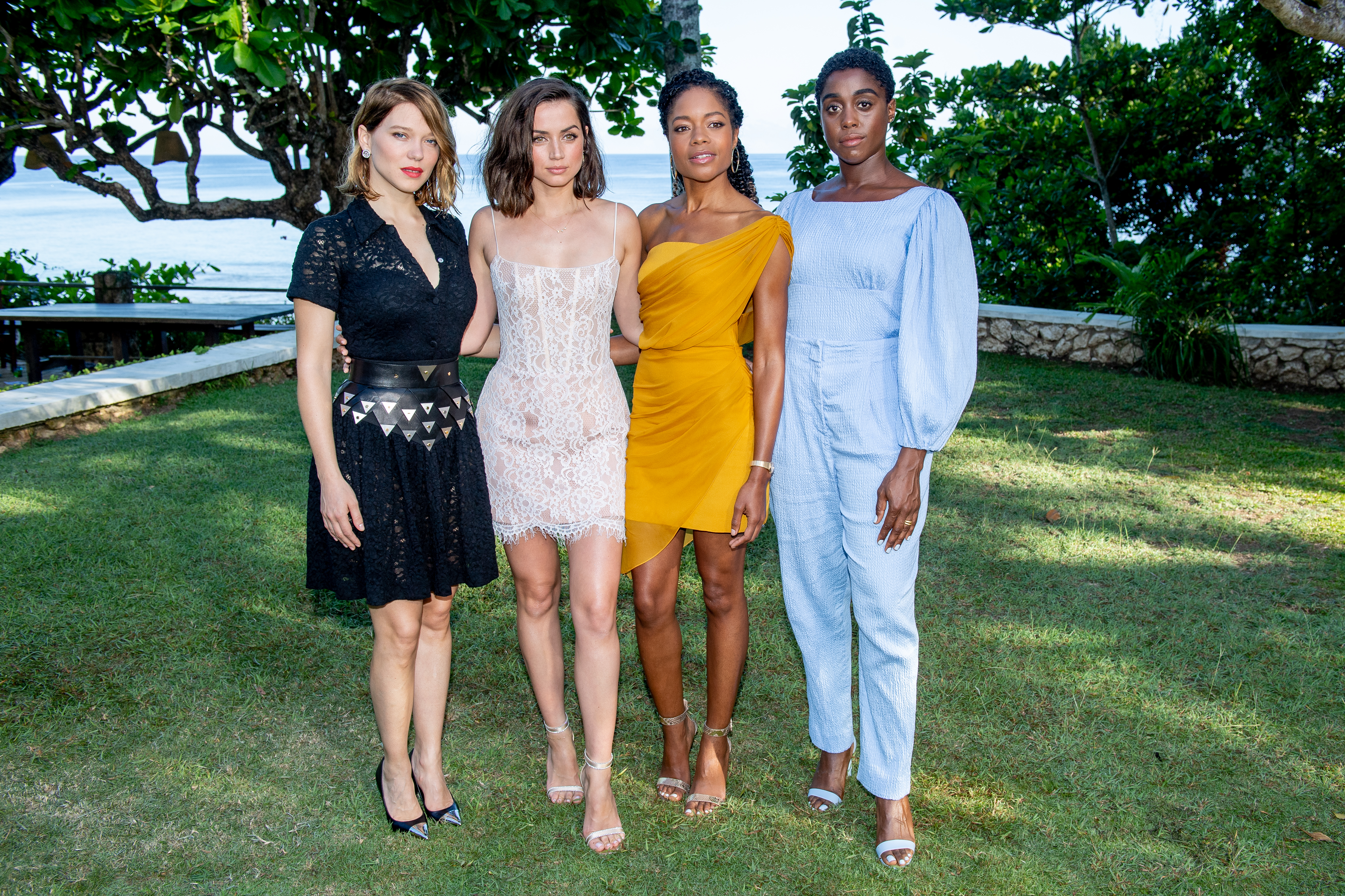 Naomie Harris, Ana de Armas, Léa Seydoux, and Lashana Lynch at an event for No Time to Die (2021)