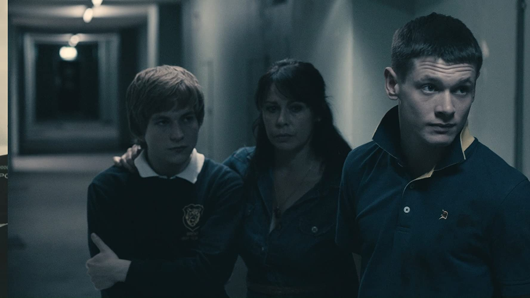 Julie Graham, Jack O'Connell, and Harry McEntire in Tower Block (2012)