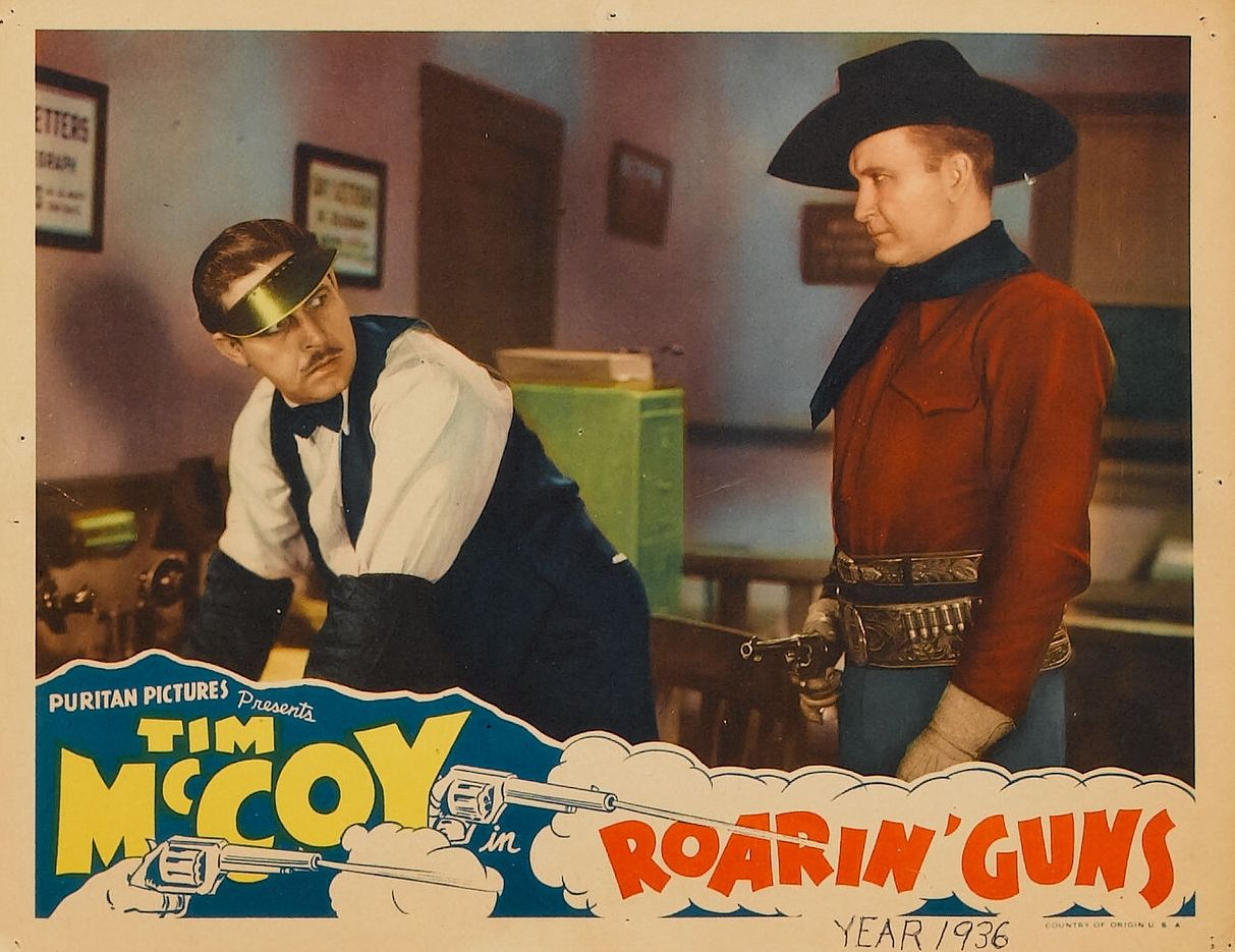 Tim McCoy and Roger Williams in Roarin' Guns (1936)