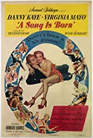 Danny Kaye, Louis Armstrong, Charlie Barnet, Tommy Dorsey, Benny Goodman, Lionel Hampton, Virginia Mayo, and Mel Powell in A Song Is Born (1948)