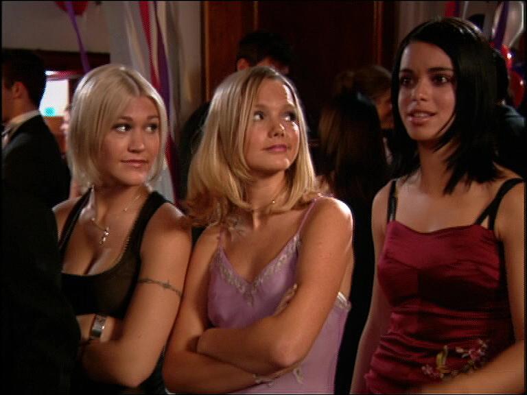 Tina Barrett, Jo O'Meara, and Hannah Spearritt in L.A. 7 (2000)