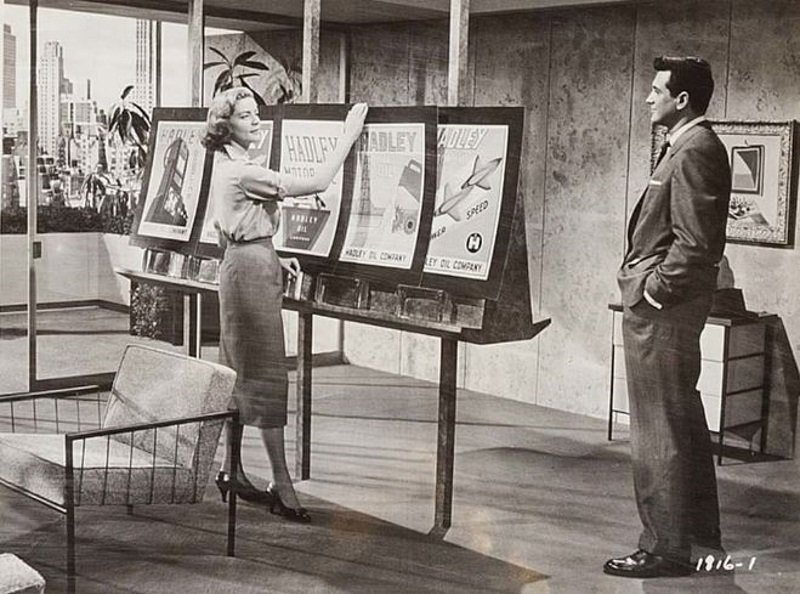 Lauren Bacall and Rock Hudson in Written on the Wind (1956)