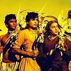 Nargis, Sunil Dutt, and Rajendra Kumar in Mother India (1957)