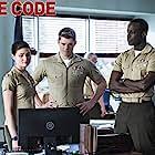 Ato Essandoh, Luke Mitchell, and Phillipa Soo in The Code (2019)