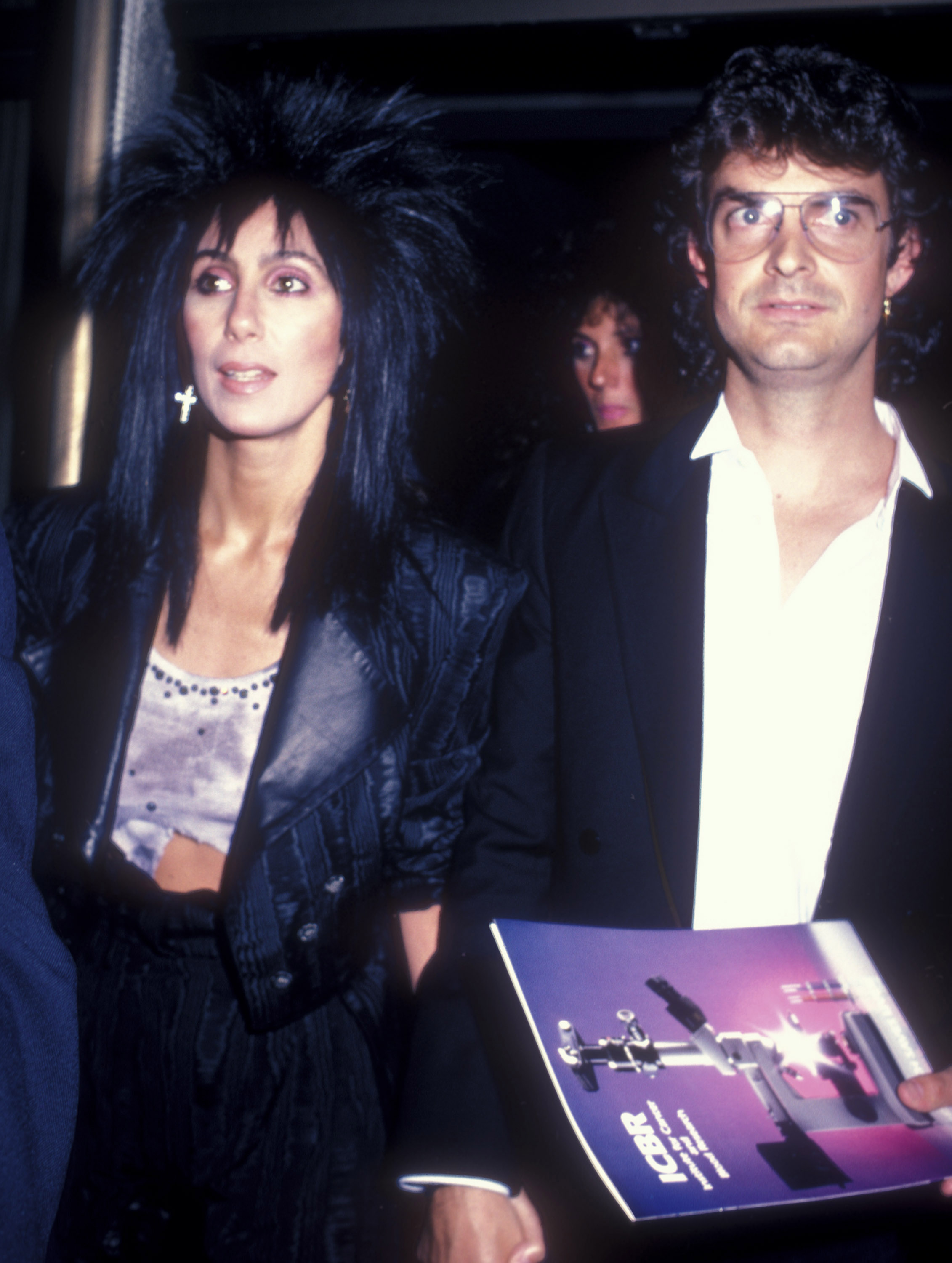 Cher and Barry King at an event for Cocoon (1985)