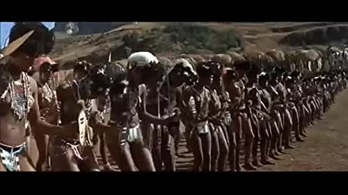 Outnumbered British soldiers do battle with Zulu warriors at Rorke's Drift.