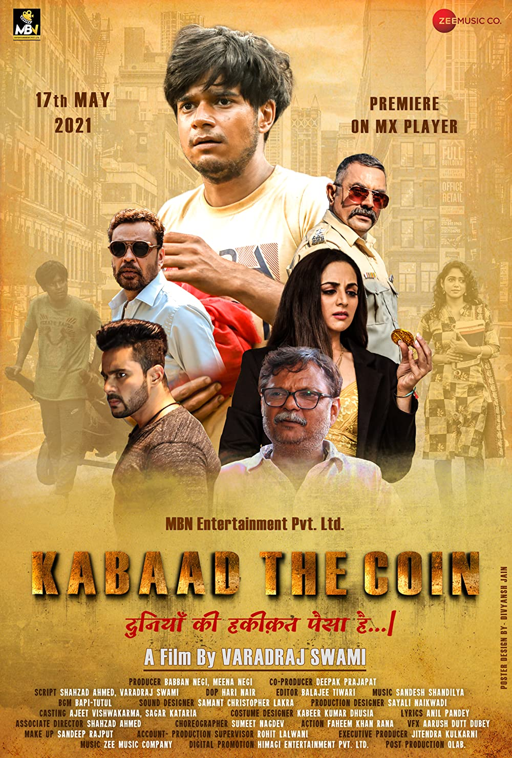 Kabaad The Coin 2021 Hindi Movie 405MB HDRip Download