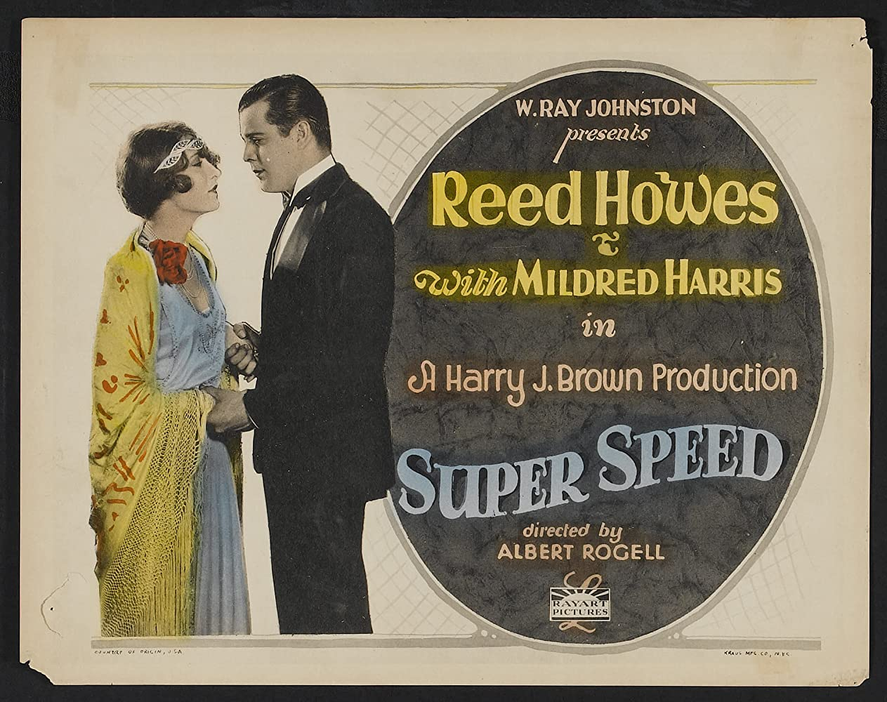 Mildred Harris and Reed Howes in Super Speed (1925)
