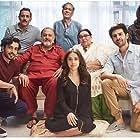 Alok Nath, Virendra Saxena, Pawan Chopra, Sunny Singh Nijjar, Ayesha Raza, Nushrat Bharucha, Madhumalti Kapoor, and Kartik Aaryan in Sonu Ke Titu Ki Sweety (2018)