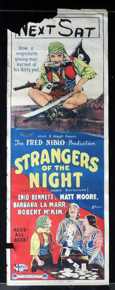 Enid Bennett, Barbara La Marr, and Matt Moore in Strangers of the Night (1923)