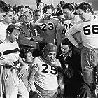 Broderick Crawford, Russ Clark, Gene Morgan, House Peters Jr., Romo Vincent, Bruce Warren, and Jeff York in Start Cheering (1938)