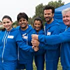 Lorenzo Lamas, Kelly Hu, Jodi Lyn O'Keefe, Erik Estrada, and Larry Wilcox at an event for Battle of the Network Stars (2017)
