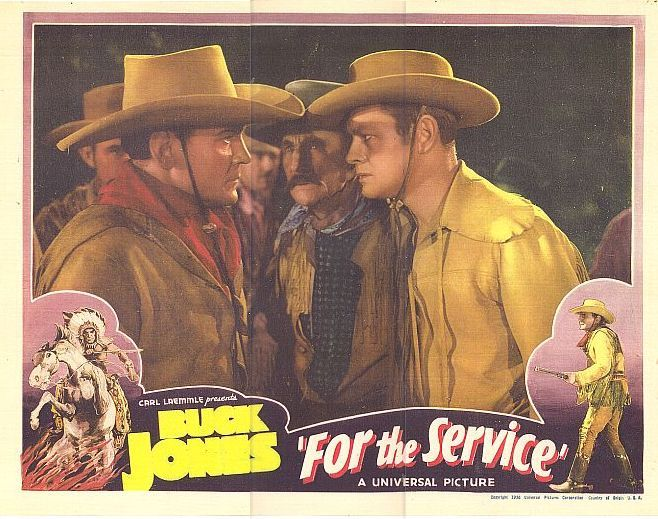 Buck Jones, Frank McGlynn Sr., and Phillip Trent in For the Service (1936)