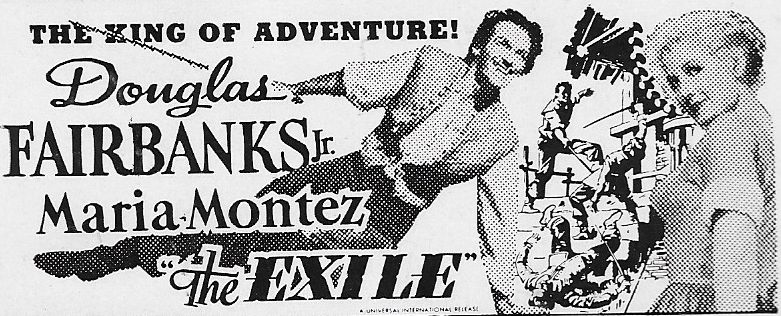 Douglas Fairbanks Jr. and Rita Corday in The Exile (1947)
