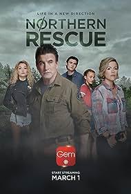 William Baldwin, Kathleen Robertson, Spencer Macpherson, Amalia Williamson, and Taylor Thorne in Northern Rescue (2019)