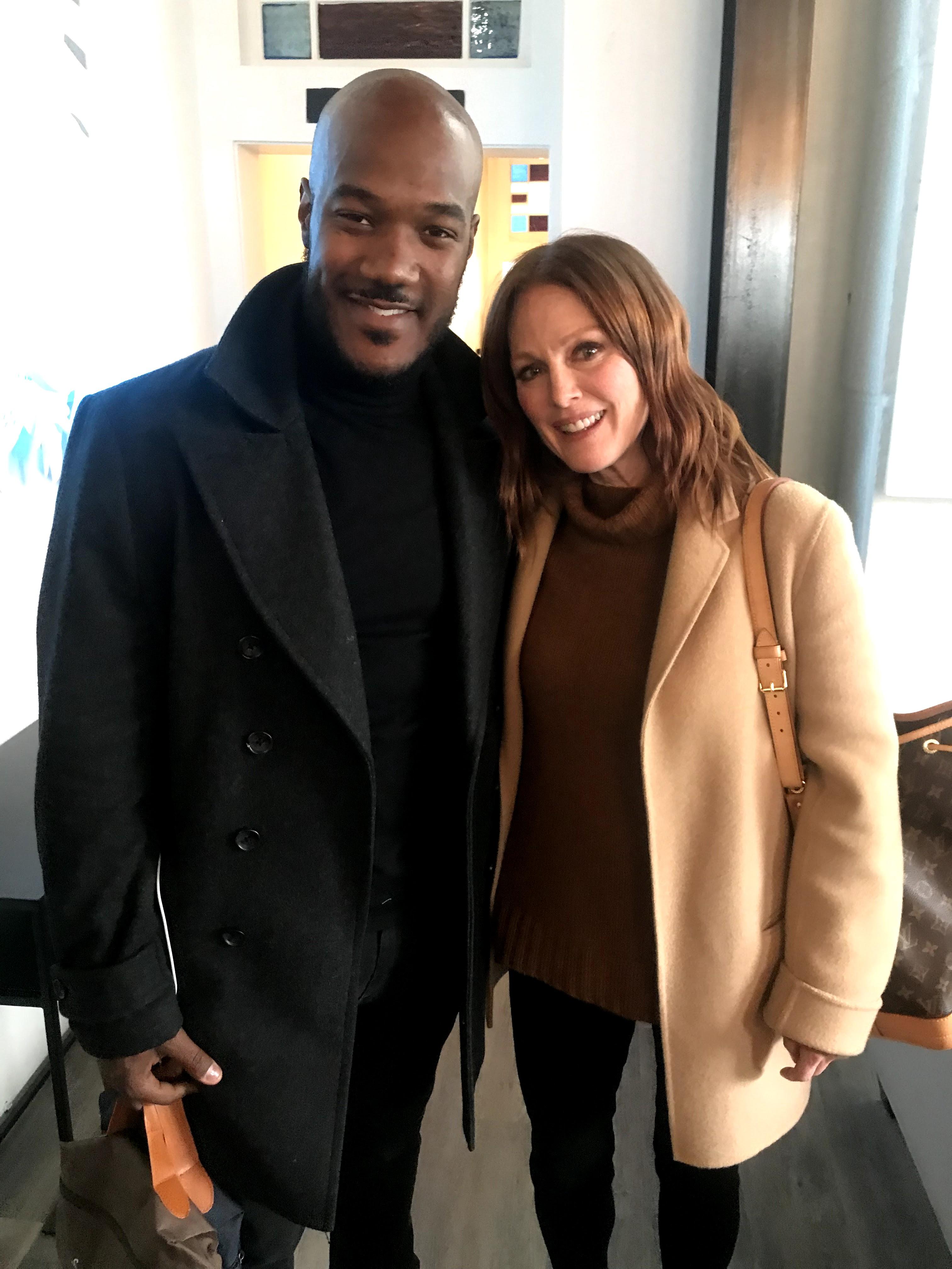 Julianne Moore and Errol Sadler at Sundance