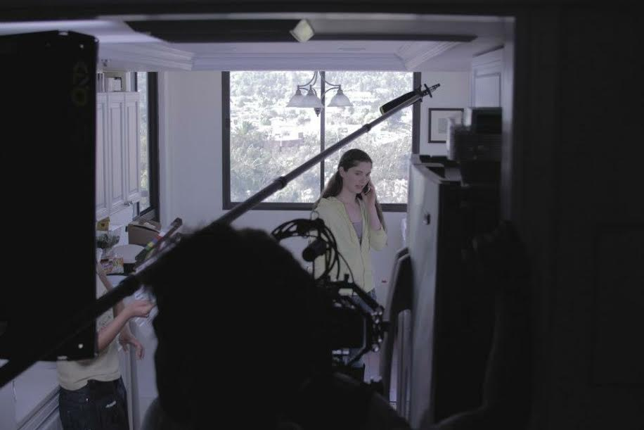 """On the set of """"A Little Part Of You""""."""