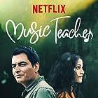 Manav Kaul and Amrita Bagchi in Music Teacher (2019)