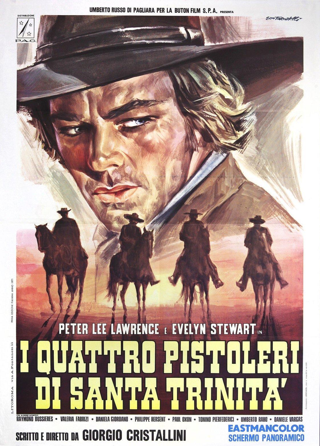 Peter Lee Lawrence in I quattro pistoleri di Santa Trinità (1971)