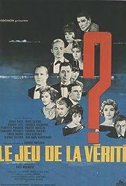 Le jeu de la vérité(1961) Poster - Movie Forum, Cast, Reviews