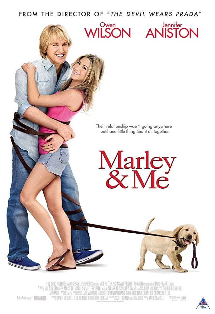 Jennifer Aniston and Owen Wilson in Marley & Me (2008)