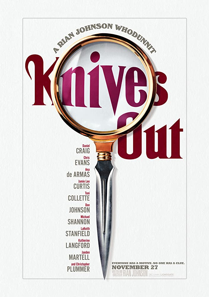 Poster film Knives Out (2019).