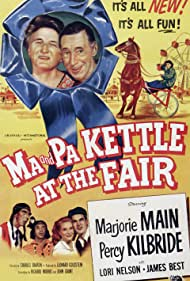 James Best, Oliver Blake, Zachary Charles, Percy Kilbride, Marjorie Main, Lori Nelson, and Emory Parnell in Ma and Pa Kettle at the Fair (1952)