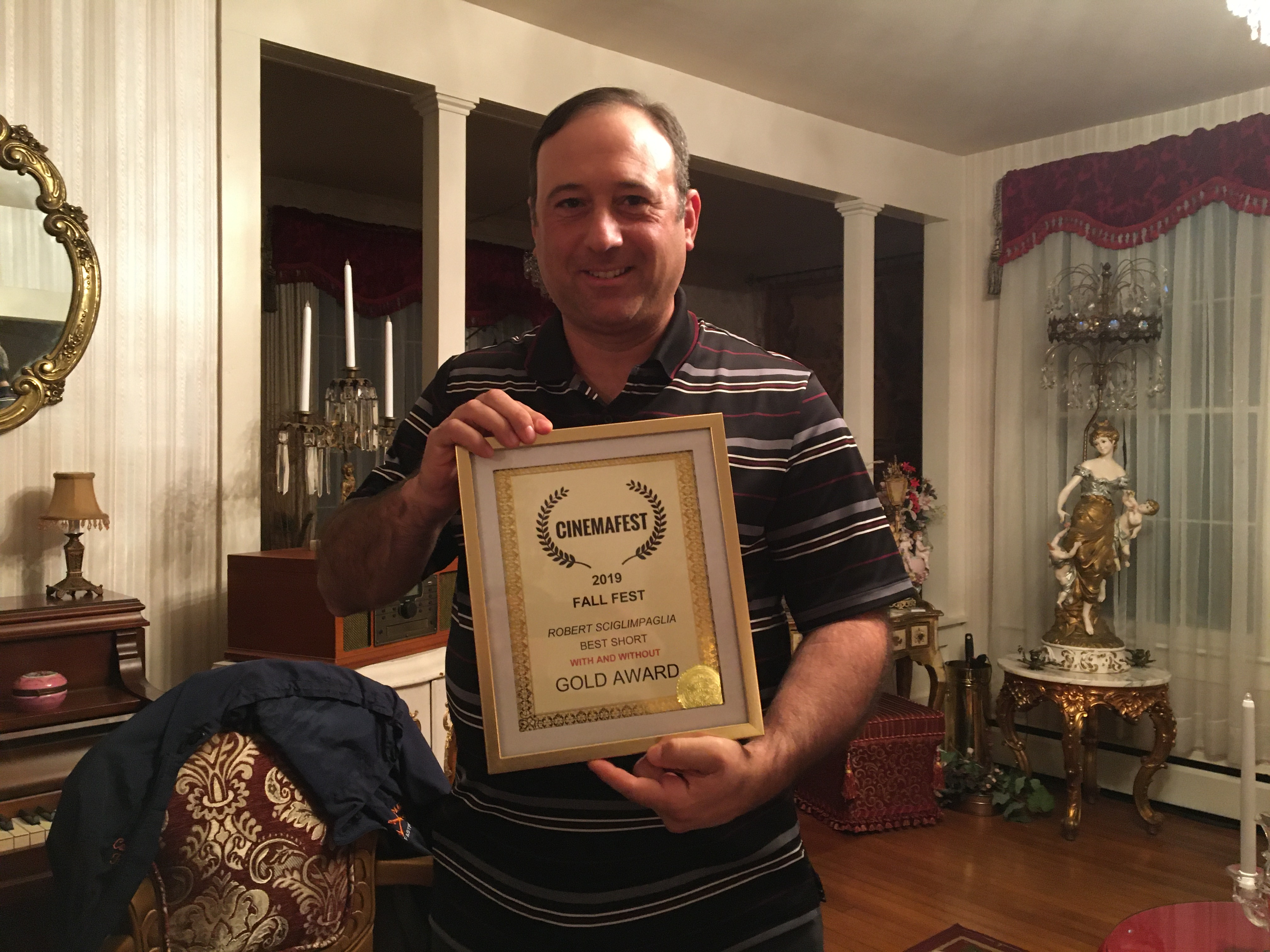 Robert Sciglimpaglia -- Producer of Within and Without -- Gold Award winner at Cinemafest