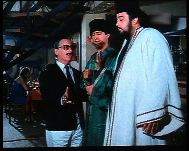 Steve Douzos, Nikos Rizos, and Sotiris Tzevelekos in Ethniki papadon (1984)