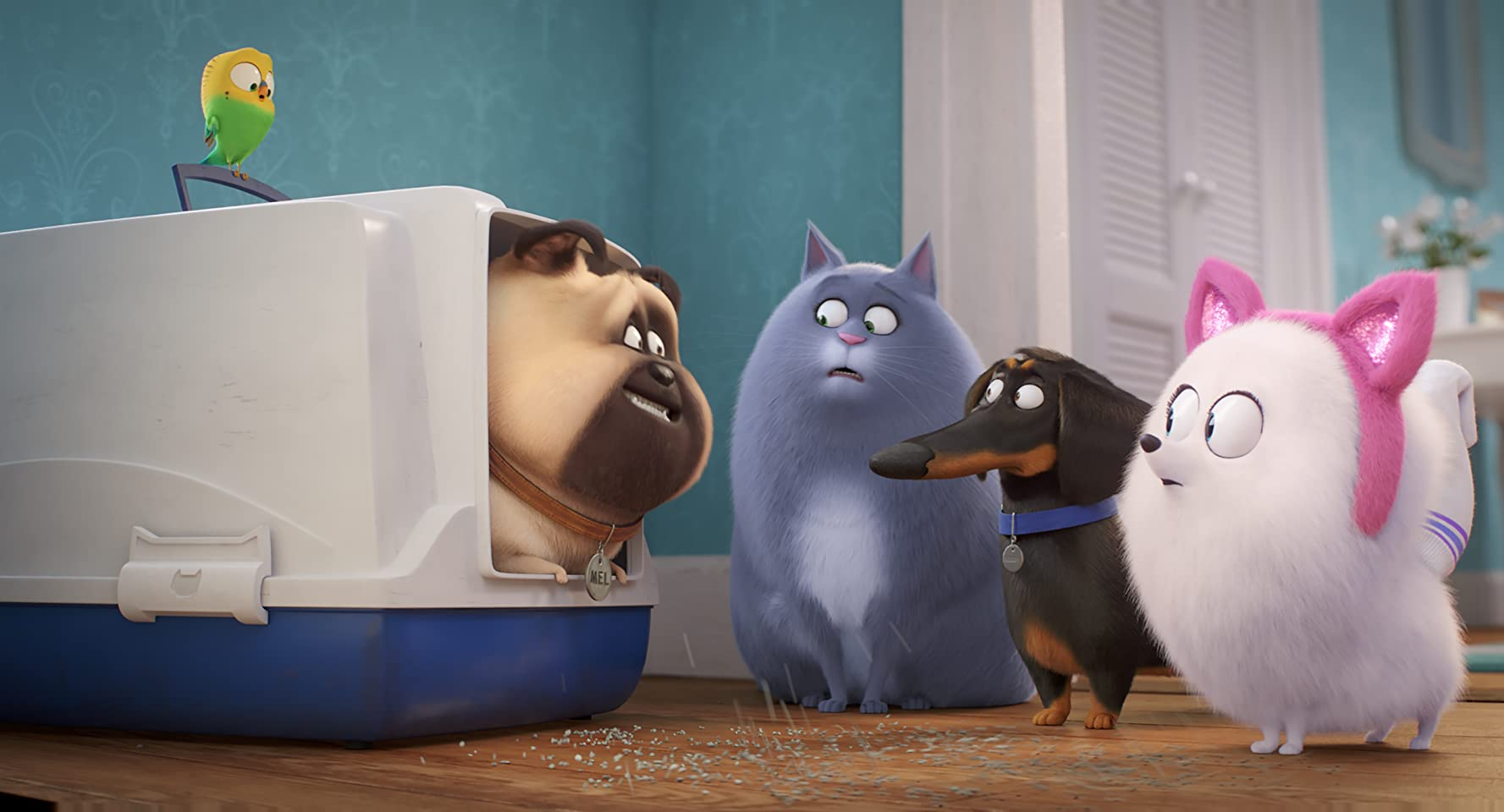 Lake Bell, Bobby Moynihan, Jenny Slate, and Hannibal Buress in The Secret Life of Pets 2 (2019)
