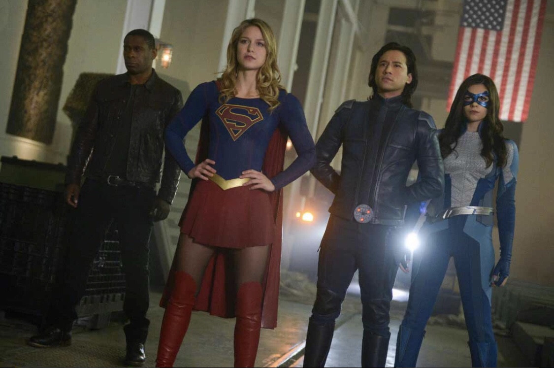 David Harewood, Jesse Rath, Melissa Benoist, and Nicole Maines in Supergirl (2015)