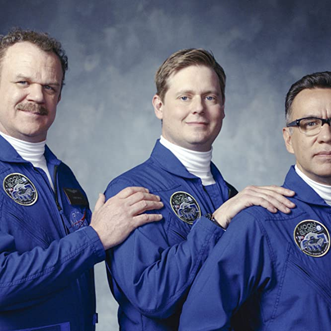John C. Reilly, Fred Armisen, and Tim Heidecker in Moonbase 8 (2020)