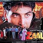 Arun Bakshi, Akshay Kumar, Madhoo, Alok Nath, Navneet Nishan, and Vishnuvardhan in Zaalim (1994)