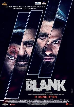 Blank Cartel de la película