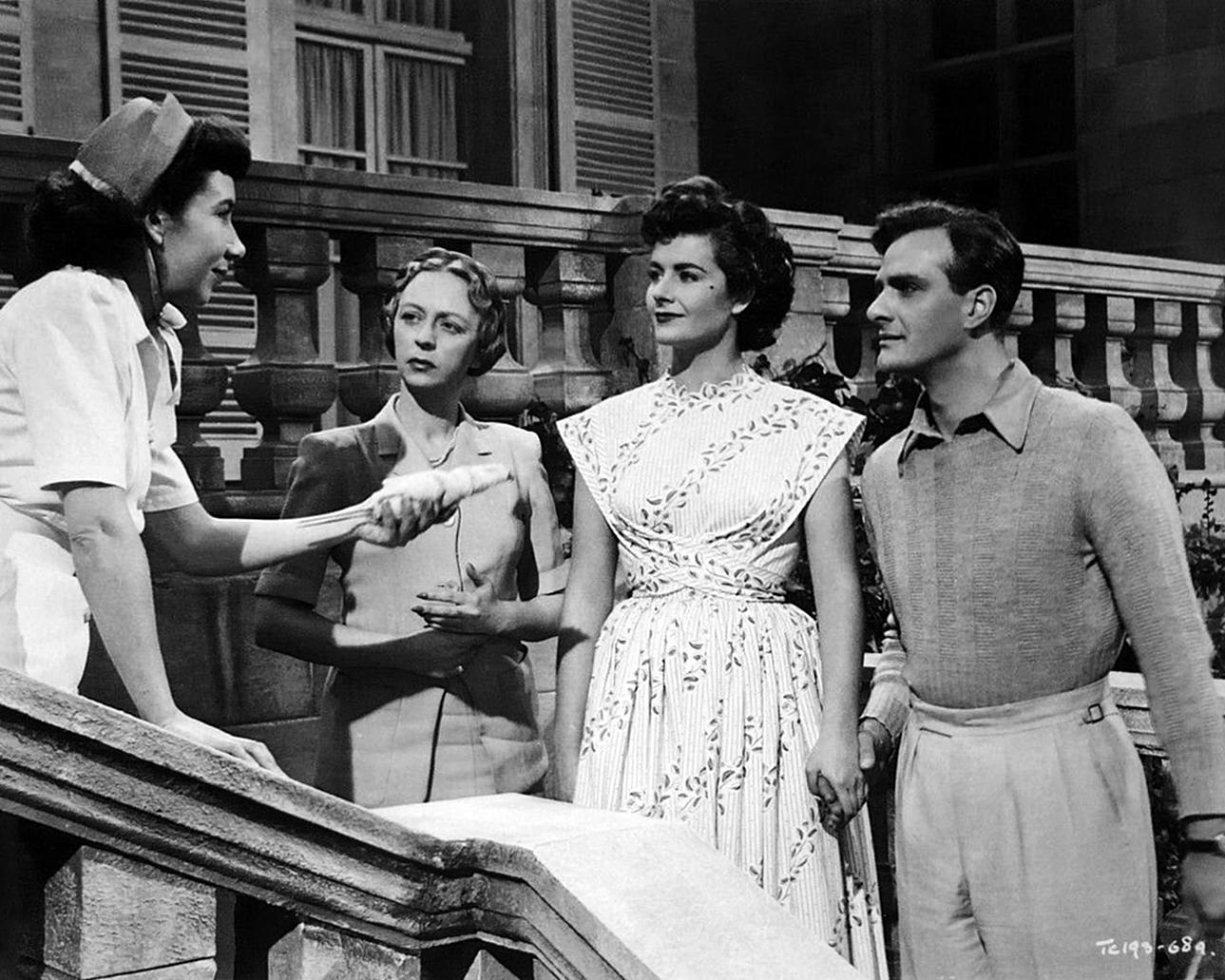 Paul Dupuis, Thora Hird, and Margaret Lockwood in Madness of the Heart (1949)