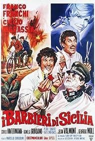 Franco Franchi, Ciccio Ingrassia, and Giorgia Moll in I barbieri di Sicilia (1967)