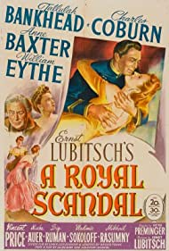 Tallulah Bankhead, Anne Baxter, Charles Coburn, and William Eythe in A Royal Scandal (1945)