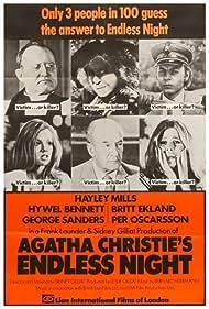 Britt Ekland, Hayley Mills, George Sanders, Hywel Bennett, and Patience Collier in Endless Night (1972)