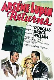 Melvyn Douglas, Virginia Bruce, and Warren William in Arsène Lupin Returns (1938)