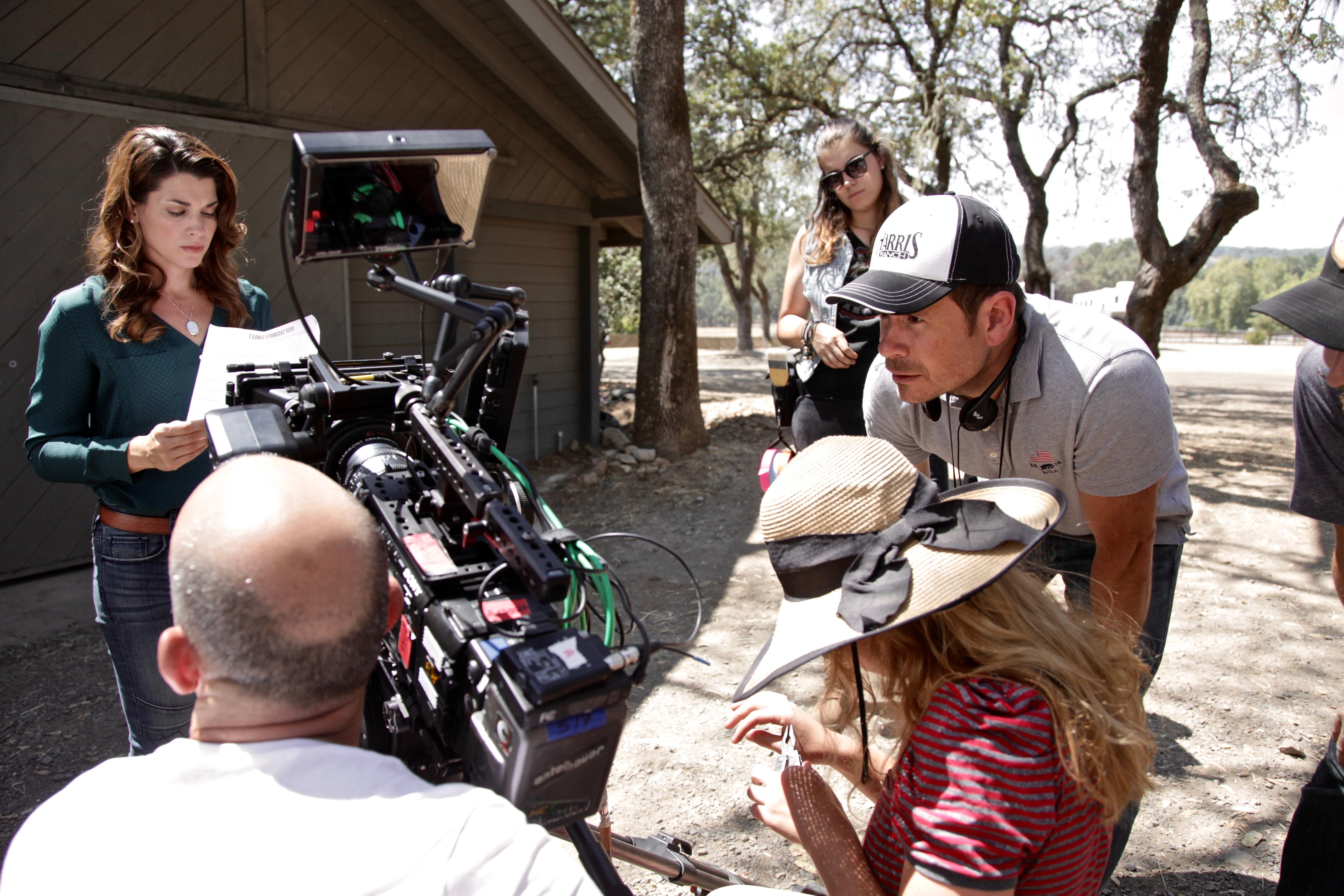 Dorian Brown Pham and Director Alex Ranarivelo on the set of Running Wild.