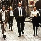 Monique Chaumette, Jacques Denis, Jacques Hilling, Paul Mercey, and Philippe Noiret in L'horloger de Saint-Paul (1974)