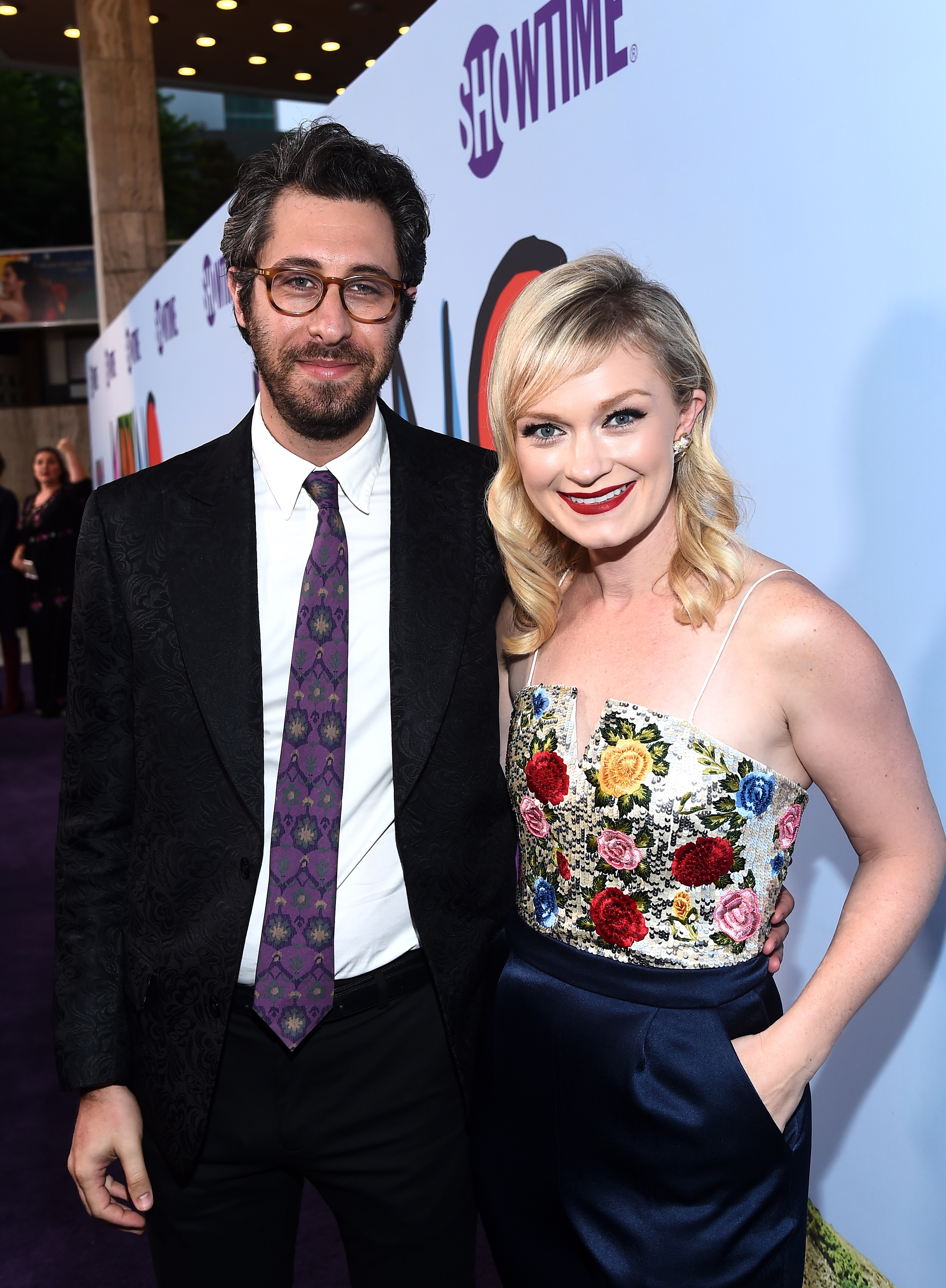 Dave Holstein and Katie Locke O'Brien at the premiere of Showtime's KIDDING