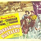 Robert Blair, Ray Corrigan, Gwen Gaze, and John 'Dusty' King in Underground Rustlers (1941)