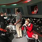 Cat Roberts between takes of Star Trek Continues